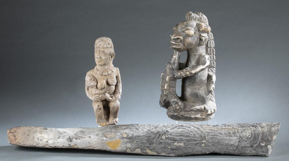 3 Ethnographic Objects. 20th c.