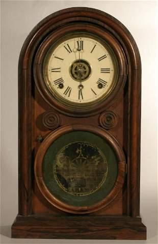 """E. Ingraham & Co. """"Venetian #2"""" shelf clock"""