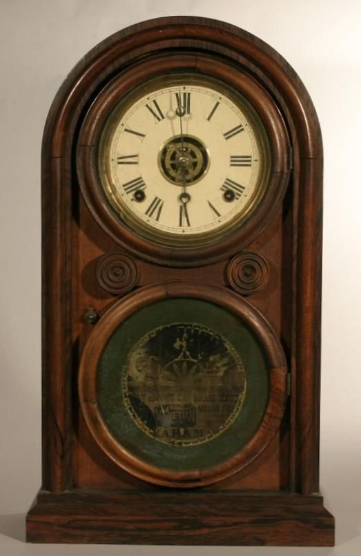 """4: E. Ingraham & Co. """"Venetian #2"""" shelf clock"""