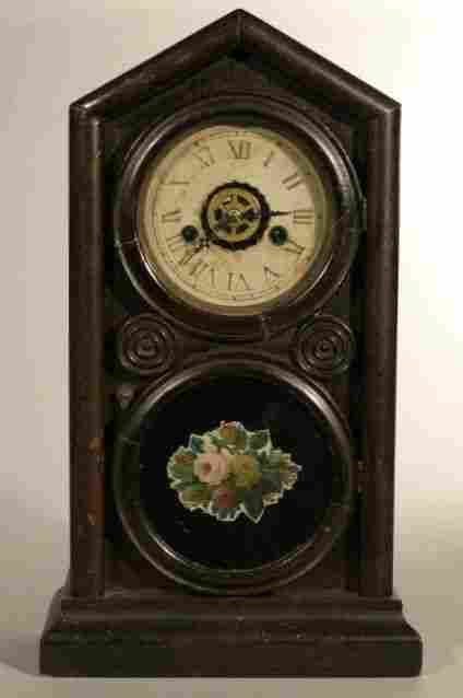 "E. Ingraham & Co. ""Doric"" shelf clock, 8 day time"