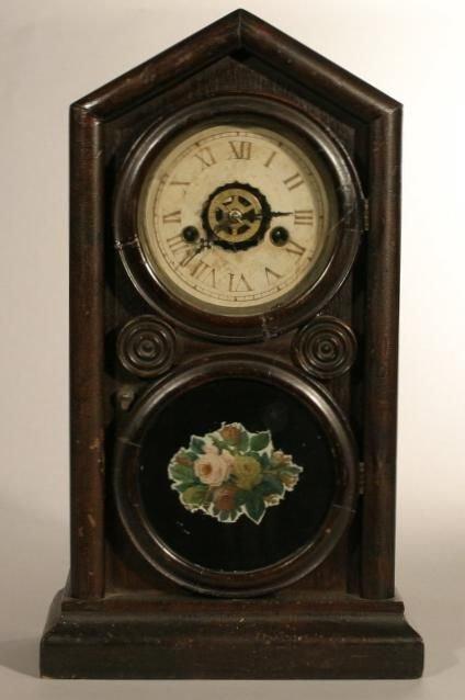 "6: E. Ingraham & Co. ""Doric"" shelf clock, 8 day time"