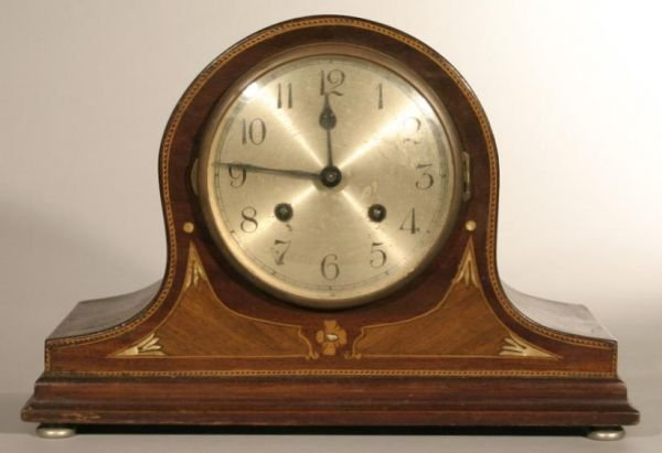 9: Tambour shelf clock with inlaid case, Germany c.1