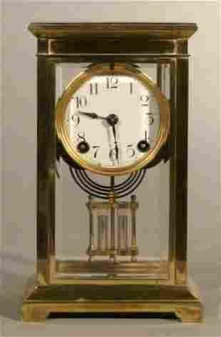 Crystal Regulator mantle clock with faux mercury
