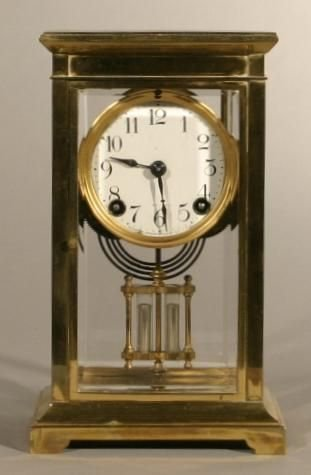 13: Crystal Regulator mantle clock with faux mercury