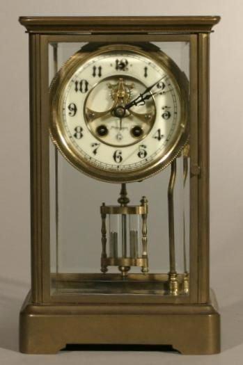 "14: Gilbert crystal regulator mantle clock, 10.5""h x"