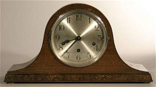 Westminster chime tambour case mantle clock, move