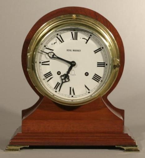 19: Royal Mariner ship's clock, by Schatz, with nice