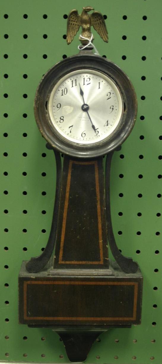 "24: Seth Thomas ""Dover"" mini banjo clock, having orig"