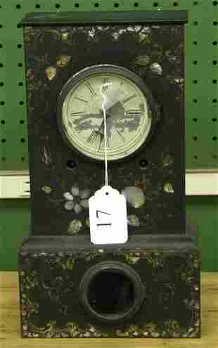 017: Upson Brothers Mother of Pearl inlay shelf clock