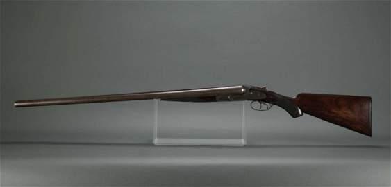 Lefever Arms Co Double Barrel 12 Gauge Shotgun.