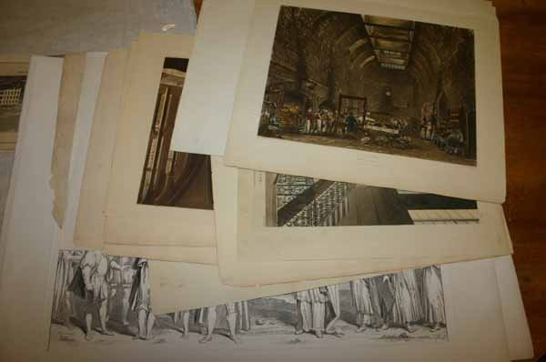 4912: ~15 prints: Greek architecture & 18th-19th Centur