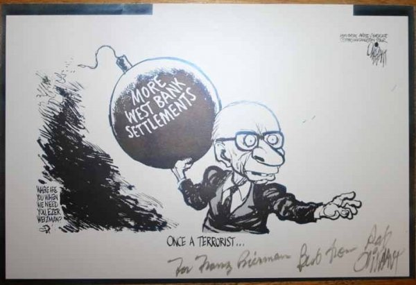 4922: Cartoon signed by Pat Oliphant (1980).