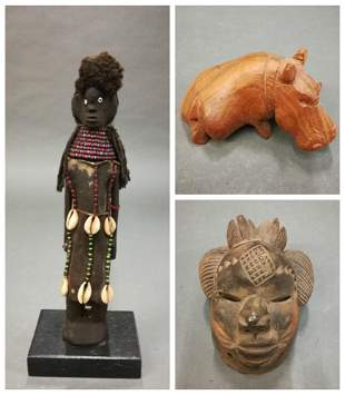 3 African Style Objects 20th c