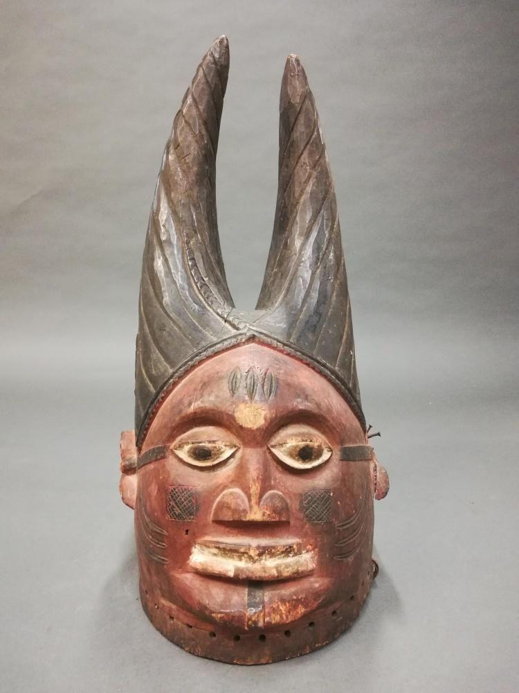 Yoruba Egungun Helmet Mask. 20th c.