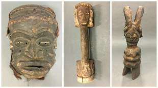 3 Nigerian Style Objects 20th c