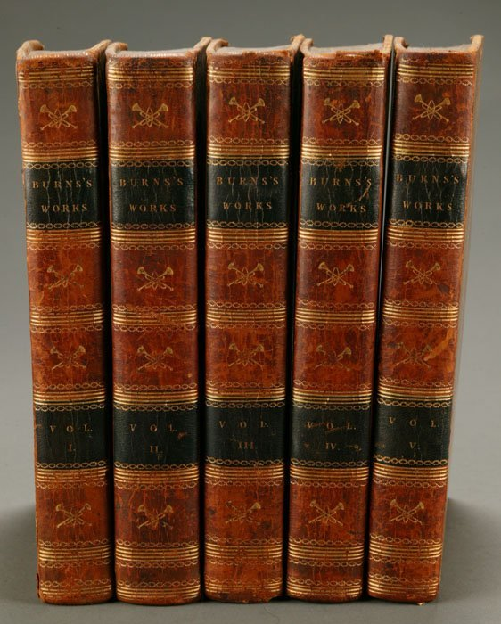 1006: WORKS OF ROBERT BURNS, 5 Vols. 1806-1808.