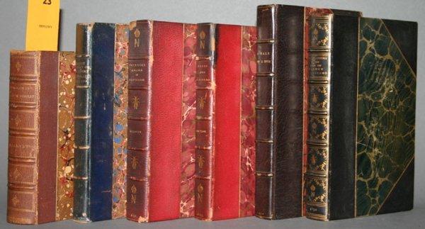 1023: 6 books, 1811 - [1883]: Napoleon, Capt. Marryat..
