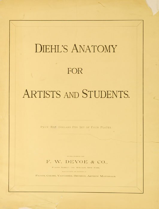 3: Diehl's Anatomy for Artists and Students, (1888).
