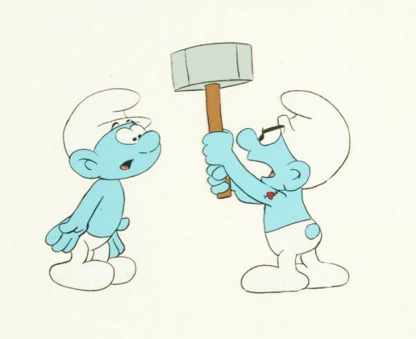 5: Animation: 2 smurfs [1981-1989].