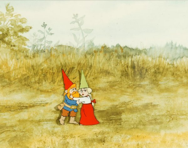 6: Animation Cel from GNOMES [1980].