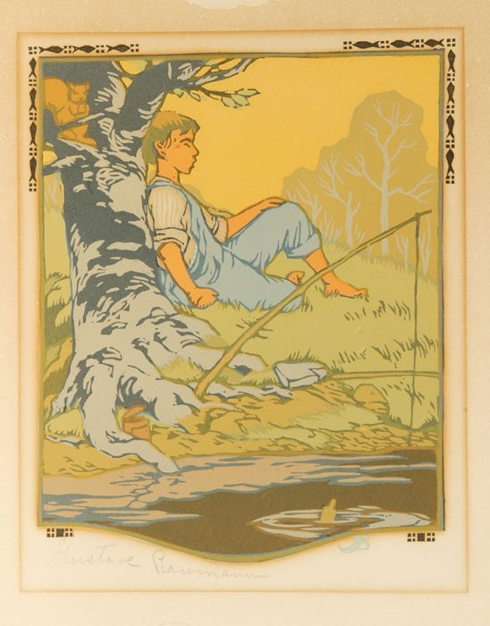 7: Gustave Baumann: 2 color woodblocks, pencil signed