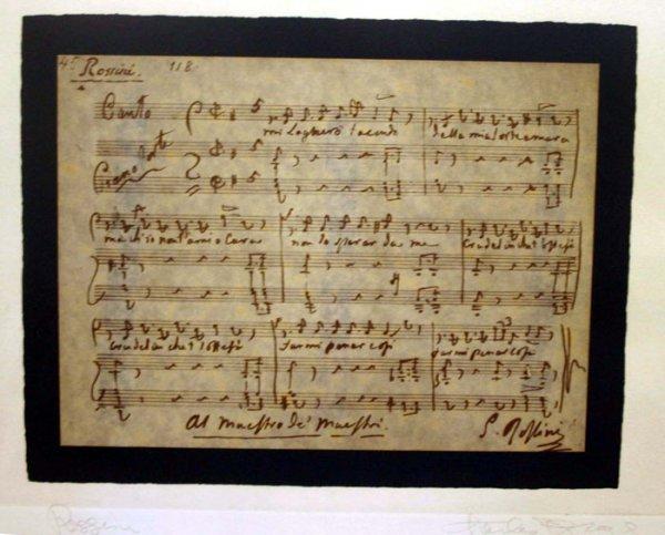 8: Charles Bragg, ''Rossini,'' #289/300.