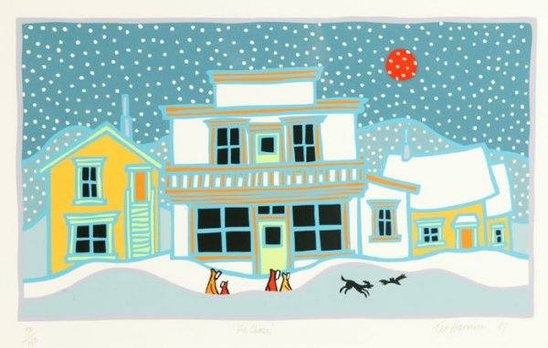 13: Ted Harrison ''The Chase'' color serigraph, ''50/15