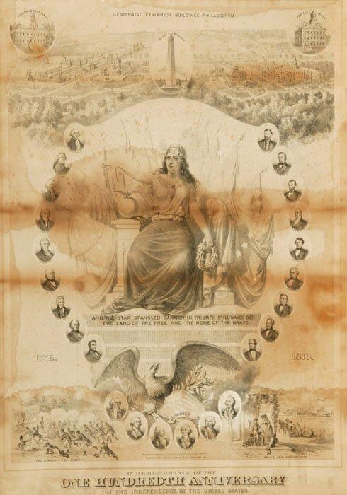 17: Centennial Exhibition poster Portland, ME: (1876).