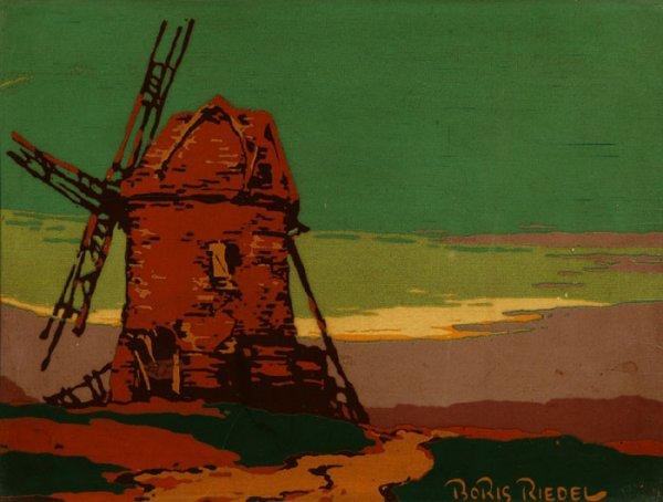 20: Boris Riedel silkscreen panel Windmill