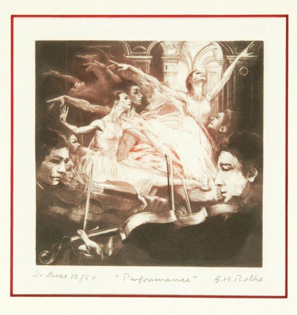 21: G.H. Rothe, ''Performance,'' mezzotint, #12/50.