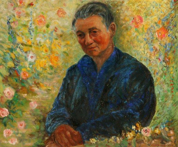 189: Joseph Kleitcsh Oil on canvas portrait of a man