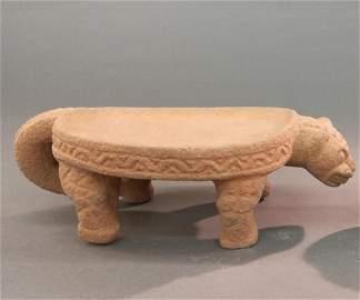 Pre-Columbian Animal Metate. 800-1200 CE.