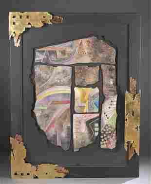 George Caso Mixed Media Abstract 20th c