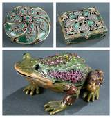 3 Jay Strongwater enameled objects