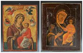 2 Iverskaya Mother of God Russian Icons, 19th c.