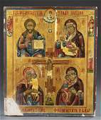 Russian Icon with 4 panels, 18th/19th c.