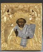 Russian Icon of St Nicholas 19th20th c