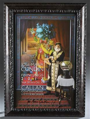 JoseMaria Cundin Signed Exhibition Poster 2017