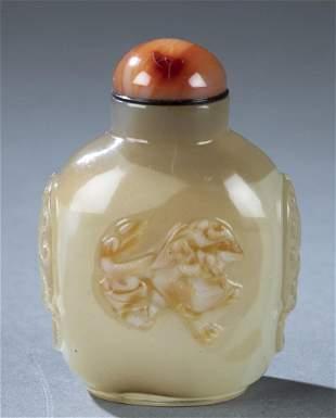 Glass imitating agate snuff bottle 17801880