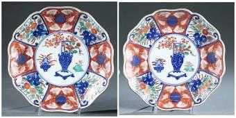 2 Chinese Imari porcelain plates