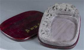Carved Chinese ink stone.