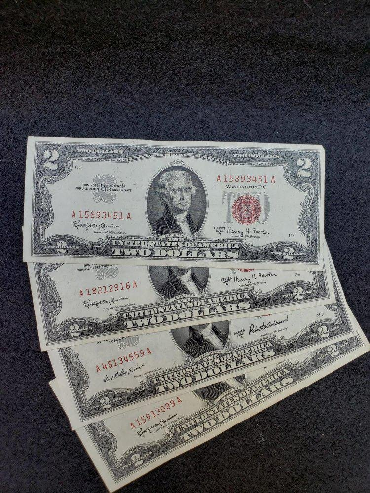 109 2 Dollar Bills