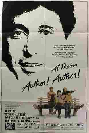 Al Pacino, 5 posters. (1) Author, Author, 1982, T