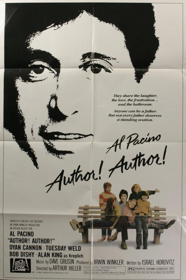 1002: Al Pacino, 5 posters. (1) Author, Author, 1982, T