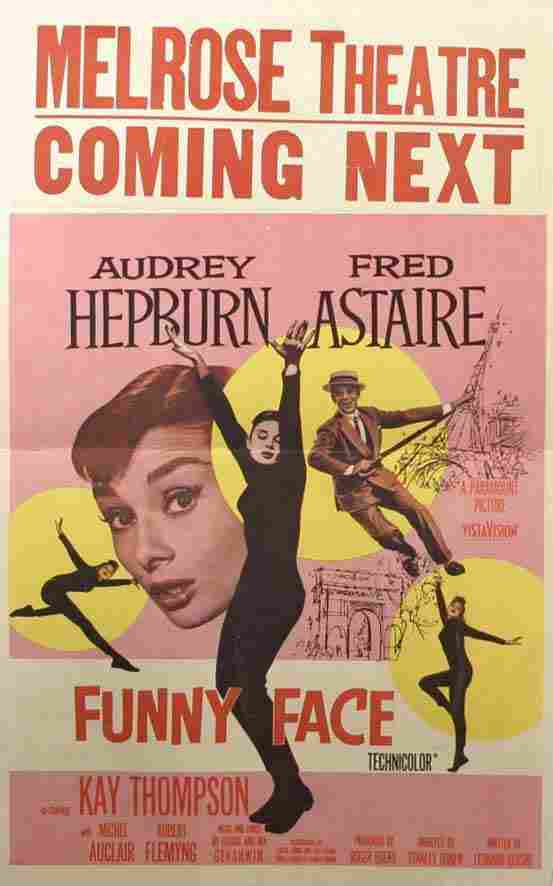 Audrey Hepburn, Poster. Funny Face, 1957, with Fr
