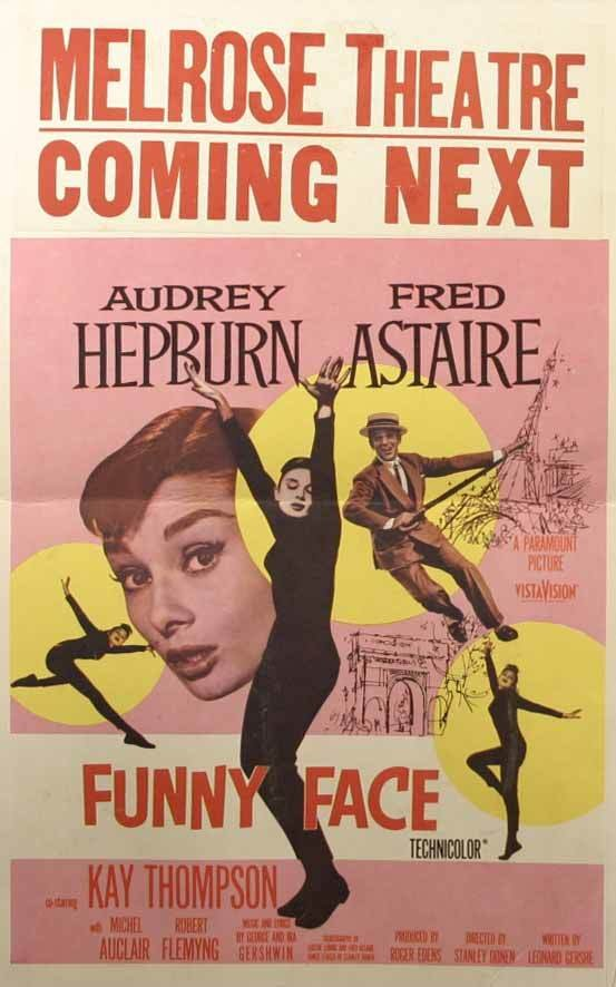 1009: Audrey Hepburn, Poster. Funny Face, 1957, with Fr