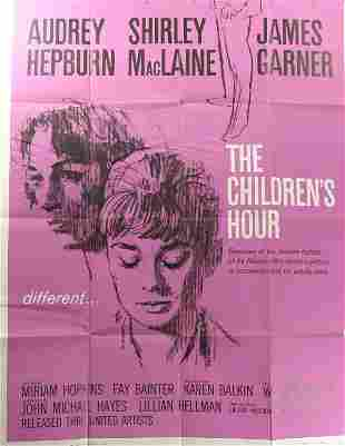Audrey Hepburn, Poster. Children's Hour, 1962, wi