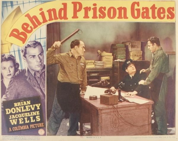 1017: Brian Donlevey, 3 Lobby Cards. (1) Behind Prison