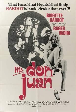 Bridgitte Bardot, Poster. Ms. Don Juan, 1976, fol