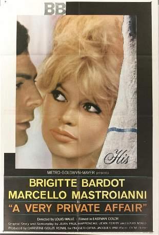 Bridgitte Bardot, Poster, A Very Private Affair,